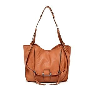 KOOBA Zoey Shoulder Bag in Tan Leather